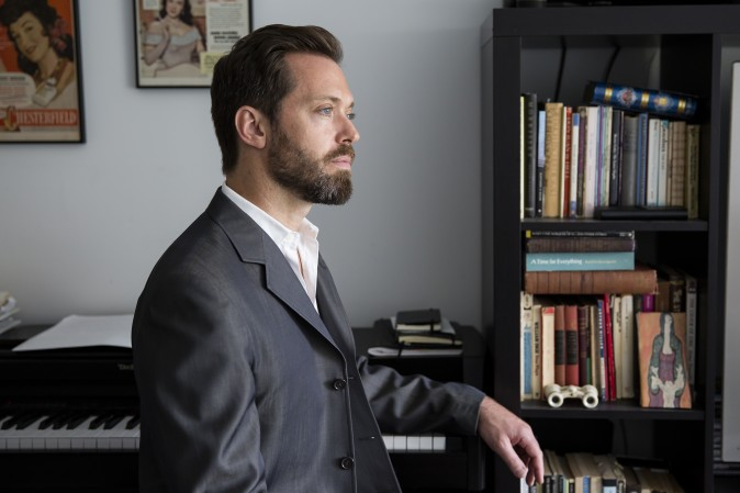 Opera singer Darren Chase at his home in Manhattan, New York, on April 21, 2017. (Samira Bouaou/The Epoch Times)