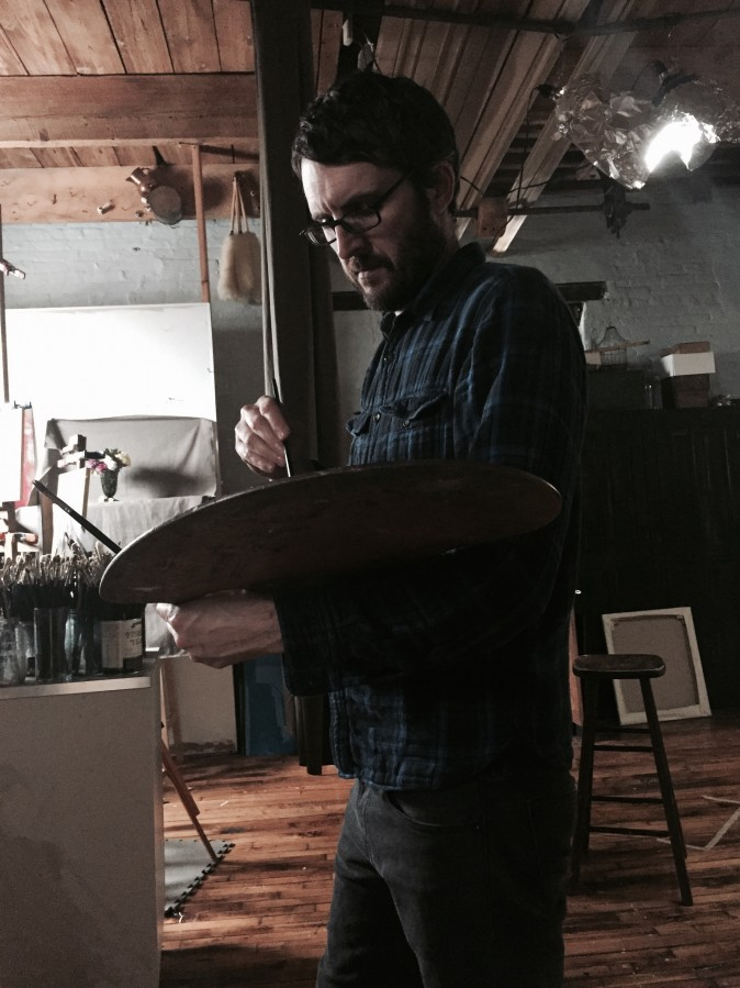 Carlo Russo in his studio in Philadelphia, May, 2017.