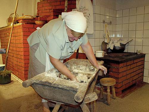 Family bread-baking is done by the women using age-old recipes and techniques.  (State Agency of Intangible Cultural Republic of Latvia)