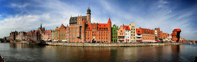 Panorama view of Gdansk, Poland. (Pjama/CC-BY 3.0)