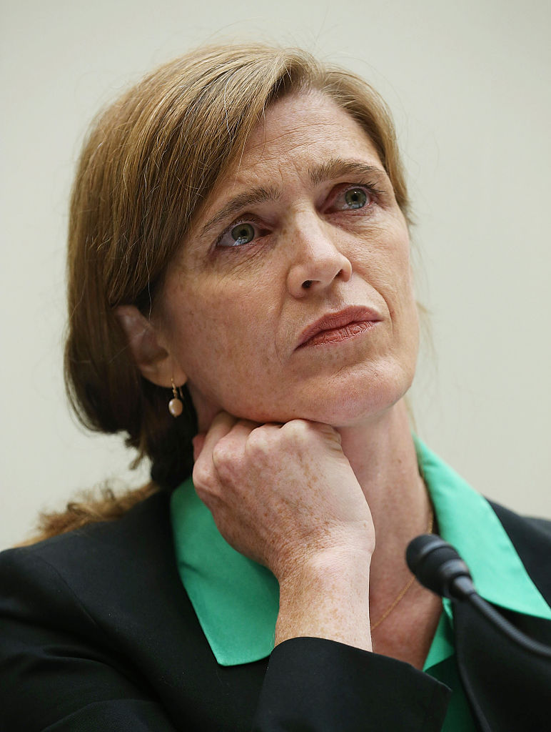 Samantha Power during a Foreign Affairs Committee hearing on Capitol Hill in Washington on June 16, 2015. (Mark Wilson/Getty Images)