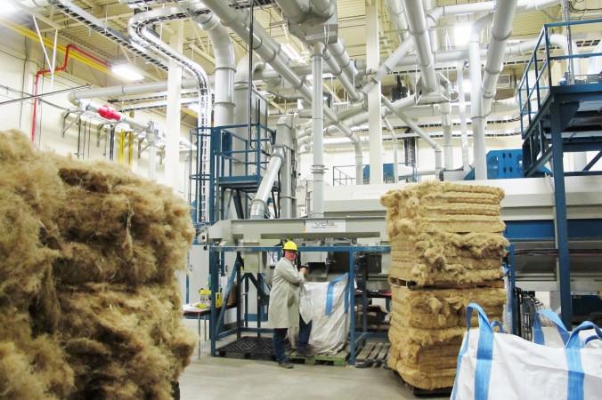 Alberta Innovates – Technology Futures' hemp processing plant in Vegreville, Alberta. (Courtesy of Jan Slesky)