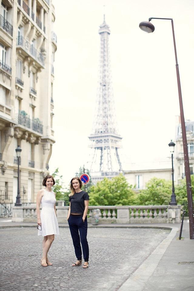 Sibylle Eschapasse and best friend Marie-Edith Dugoujon in Paris. (Thomas Eschapasse)