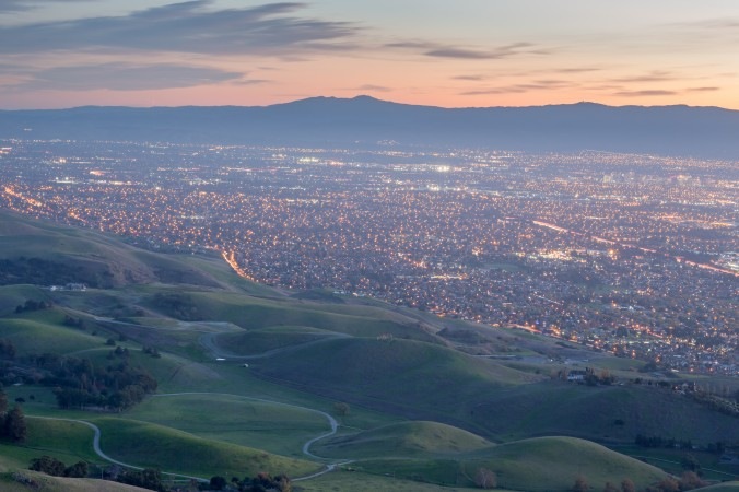 The Silicon Valley area as seen from Monument Peak in near Milpitas, Calif., in this file photo. (Yuval Helfman/Shutterstock)