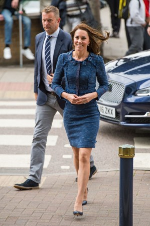LONDON, ENGLAND - JUNE 12: Catherine, Duchess of Cambridge arrives at Kings College Hospital to meet staff and patients who were affected by the terrorist attacks in London Bridge and Borough Market on June 12, 2017, London, England.  (Photo by Dominic Lipinski - WPA Pool / Getty Images)