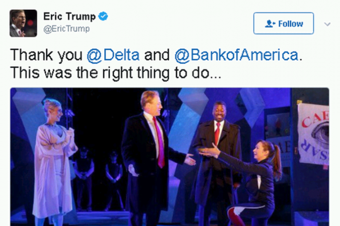 Eric Trump's Twitter statement (Twitter/screenshot)