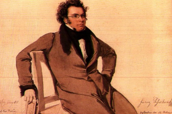 """Composer Franz Schubert in a watercolor by Wilhelm August Rieder. Schubert's song cycle """"Die schöne Müllerin"""" captures the essence of romantic love in all of its stages. (Public domain)"""