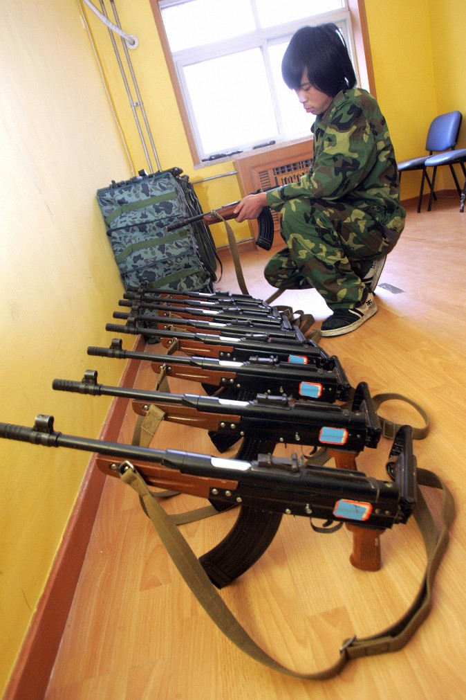 Toy guns for a group of Chinese teenagers to play with as part of their treatment at the Internet Addiction Treatment Centre.  (AFP/AFP/Getty Images)