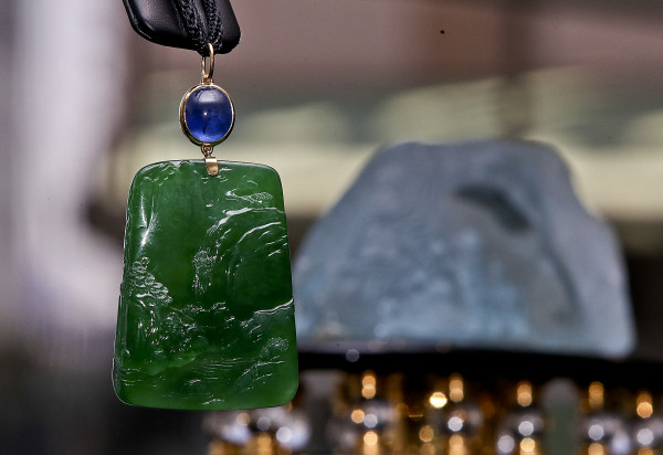 Jade Amulet. Part of Christie Collection at Hong Kong Luxury Auction. (Photo Credit: Zheng wu Li)