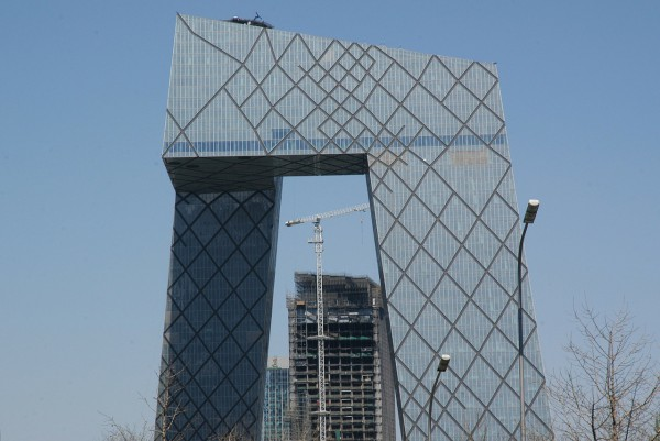 The criss-cross pattern on the external glass walls looks like a fishing net. (Image via pixabay / CC0 1.0)