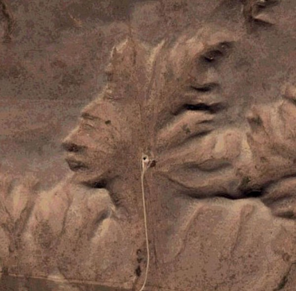 Super Granny: The Badlands Guardian of Alberta. (Image: Google Earth )