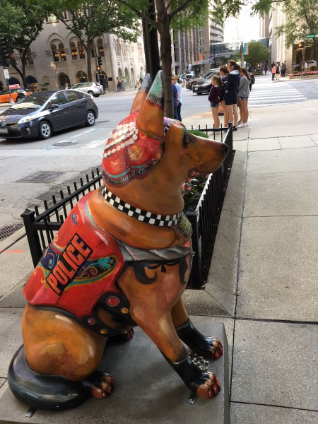 """""""K9s for Cops"""" was developed and launched by the Chicago Police Memorial Foundation in 2017. (Image: Monica Song/Vision Times)"""