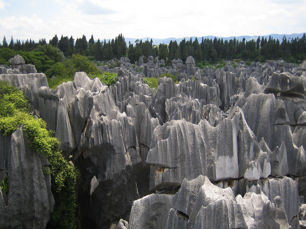 Weathering rocks, like the limestone at Stone Forest National Park in China, hold significant levels of nitrogen.  (Image:  Eric Chan via   flickr  /  CC BY 2.0 )