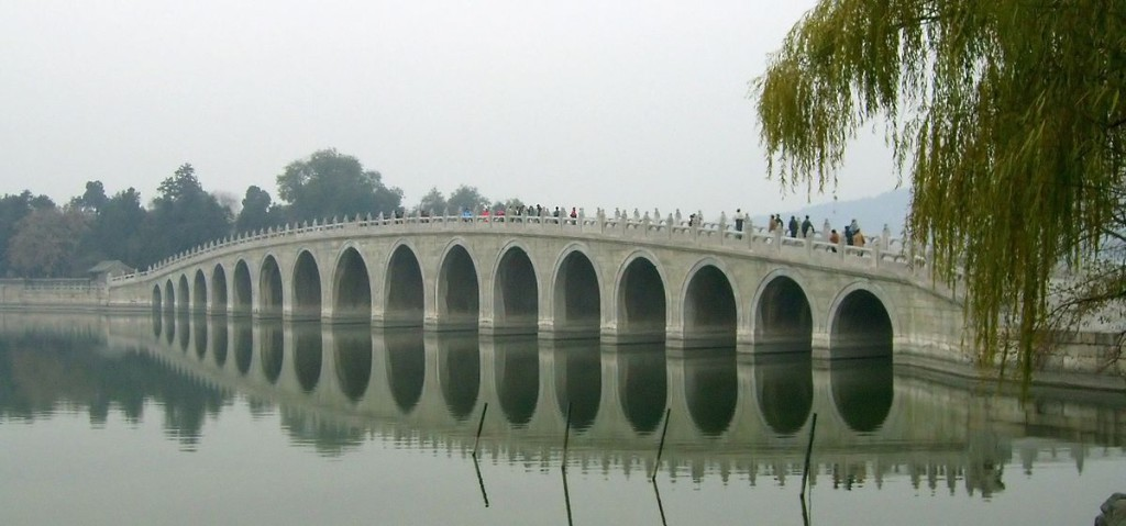 The Seventeen-Arch Bridge, originally called the Garden of Clear Ripples, in China's Beijing Summer Palace has delighted sightseers and photographers over the years. (Image:  Shizhao via  flickr  CC BY-SA 1.0)