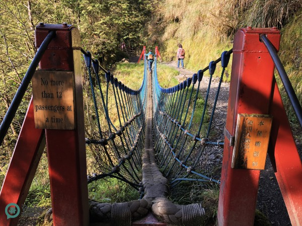 There are also two rope bridges along Jiancing Historic Trail. (Image: Billy Shyu / Vision Times)