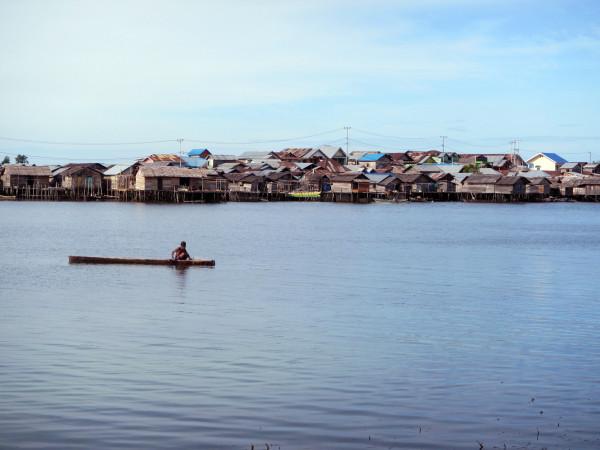 The Bajau village of Jaya Bakti. (Photo by Melissa Ilardo)