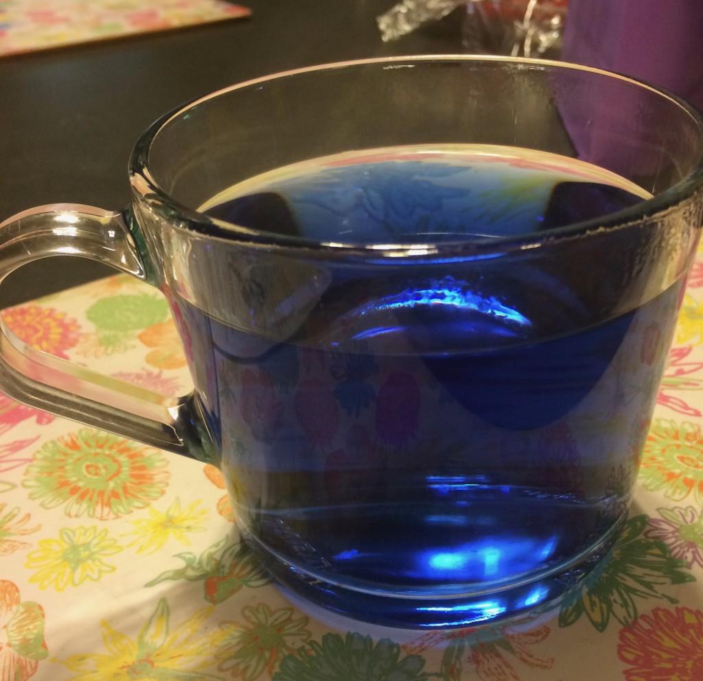 Butterfly Pea Blue Tea. (Image: Trisha Haddock)
