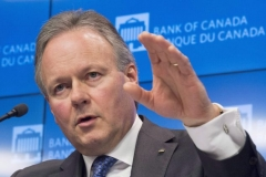 Bank of Canada governor StephenPolozat a news conference in Ottawa on Jan. 17, 2018. The Bank of Canada left its overnight rate target at 1.25 percent on April 18. (The Canadian Press/Adrian Wyld)