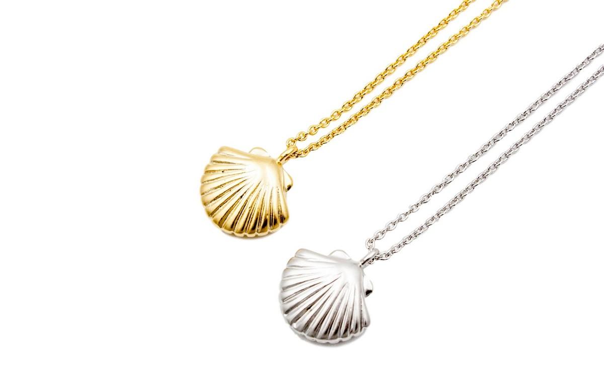 Clam Charm Necklace, Yun Boutique, $30